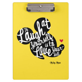 Trendy Mickey | Laugh At Yourself Clipboard