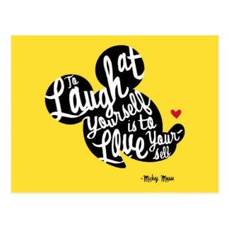 Trendy Mickey | Laugh At Yourself Postcard