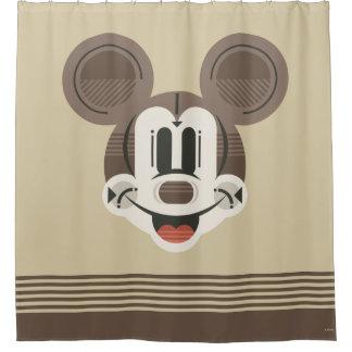 Trendy Mickey | Stylized Stripes Retro Head
