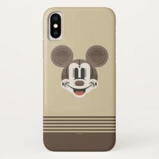 Trendy Mickey | Stylized Stripes Retro Head iPhone X Case
