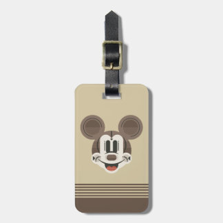Trendy Mickey | Stylized Stripes Retro Head Luggage Tag