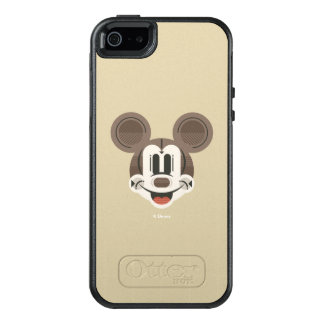 Trendy Mickey | Stylized Stripes Retro Head OtterBox iPhone 5/5s/SE Case
