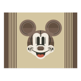 Trendy Mickey | Stylized Stripes Retro Head Postcard