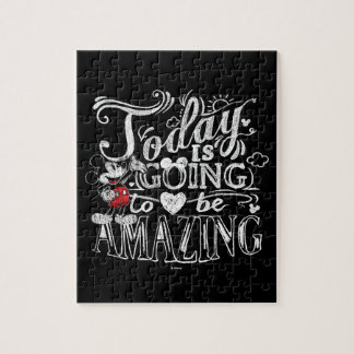 Trendy Mickey | Today Is Going To Be Amazing Jigsaw Puzzle