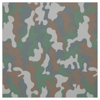 Trendy Military Woodland Camouflage Camo Pattern Fabric