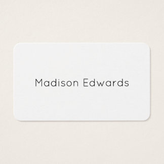 Trendy minimalist black and white business card