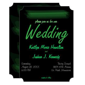 Trendy Minimalist Elegant Spring Green Wedding Card