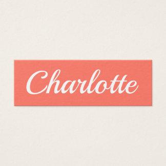 Trendy minimalist modern peach pink business card