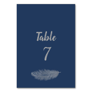 Trendy minimalist navy peony feather wedding card