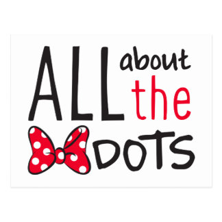 Trendy Minnie | All About The Dots Postcard