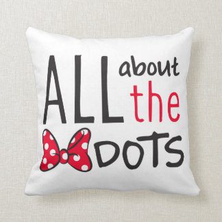 Trendy Minnie | All About The Dots Throw Pillow