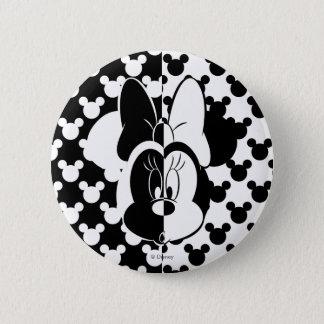 Trendy Minnie | Black & White Modern 2 Inch Round Button