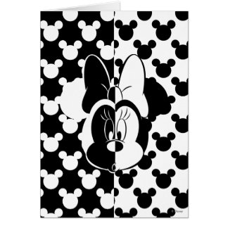 Trendy Minnie | Black & White Modern Card