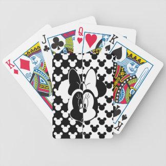 Trendy Minnie | Black & White Modern Poker Deck