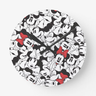 Trendy Minnie | Classic Pattern Round Clock