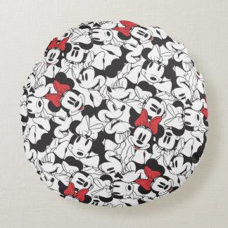 Trendy Minnie | Classic Pattern Round Pillow