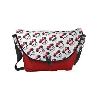Trendy Minnie   Emoji Pattern Messenger Bag