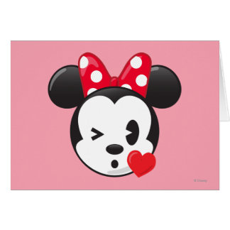 Trendy Minnie | Flirty Emoji Card