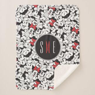 Trendy Minnie | Monogram Classic Pattern Sherpa Blanket