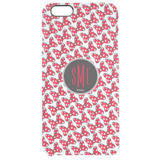 Trendy Minnie | Polka Dot Bow Monogram Clear iPhone 6 Plus Case