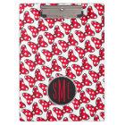 Trendy Minnie | Polka Dot Bow Monogram Clipboard