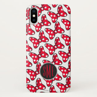 Trendy Minnie | Polka Dot Bow Monogram iPhone X Case