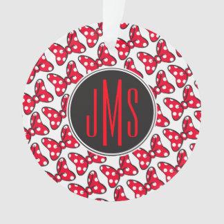 Trendy Minnie | Polka Dot Bow Monogram Ornament