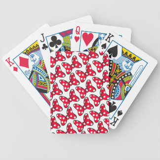 Trendy Minnie | Polka Dot Bow Pattern Bicycle Playing Cards