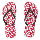 Trendy Minnie | Polka Dot Bow Pattern Flip Flops