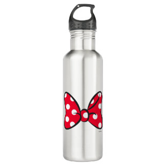 Trendy Minnie | Red Polka Dot Bow 710 Ml Water Bottle