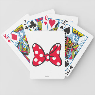 Trendy Minnie | Red Polka Dot Bow Bicycle Playing Cards