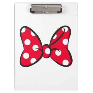 Trendy Minnie | Red Polka Dot Bow Clipboard