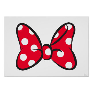 Trendy Minnie | Red Polka Dot Bow Poster