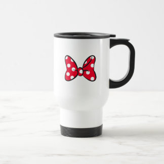 Trendy Minnie | Red Polka Dot Bow Travel Mug