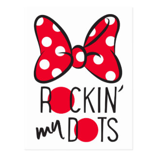 Trendy Minnie | Rockin' My Dots Postcard