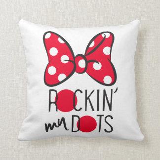 Trendy Minnie | Rockin' My Dots Throw Pillow