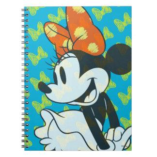 Trendy Minnie | Shy Pose Spiral Notebook