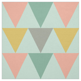 Trendy Mint Geometric Triangle Pattern Fabric