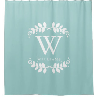 Trendy Mint Green Monogram