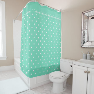 Trendy Mint Green White Polka Dot Spot Pattern