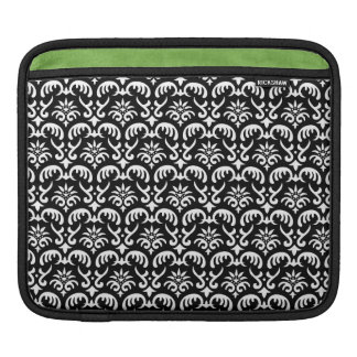 Trendy & Mod Black Damask iPad 2 Sleeve Sleeves For iPads