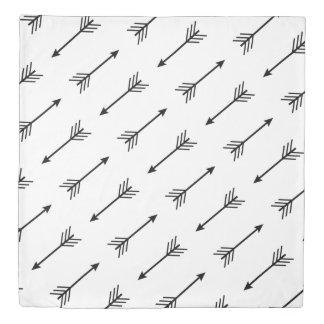 Trendy Modern Black & White Arrows Reversible Duvet Cover