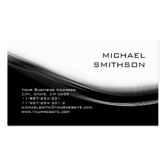 Trendy Modern Black White Grey Business Card