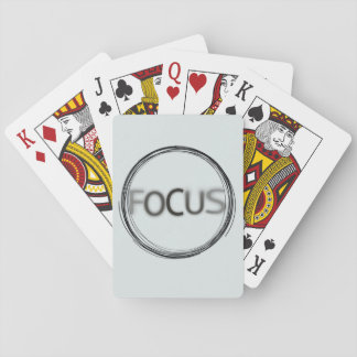 Trendy Modern Cool Typography Design FOCUS Playing Cards