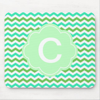 Trendy, modern fresh  green chevron zigzag mouse pads