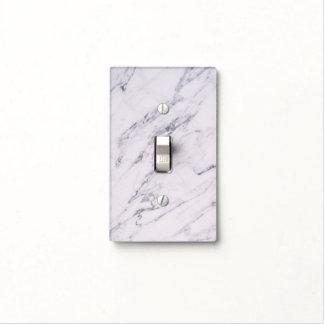 Trendy Modern Marble Elegant Chic Glam Grey White Light Switch Cover