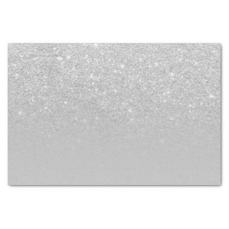 Trendy modern silver ombre grey color block tissue paper