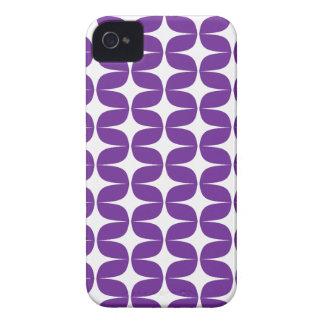 Trendy, Modern White & Purple Pattern iPhone 4/4s Case-Mate iPhone 4 Case