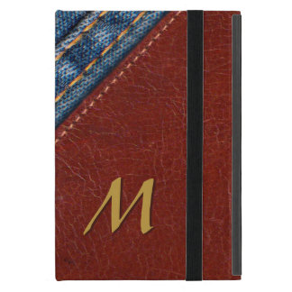 Trendy Monogram Denim and Leather iPad Mini Cover
