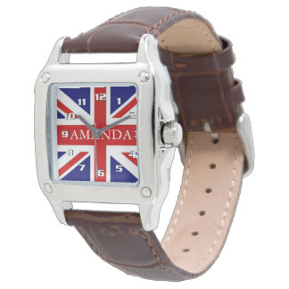 Trendy Monogram Union Jack Watch